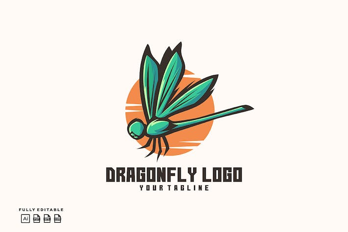 Thumbnail for Dragonfly Logo Template