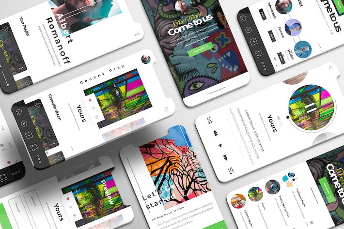 Thumbnail for Alto UI Kit - Music Player Apps