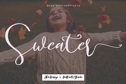 Sweater // Wedding Font