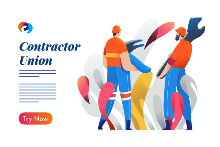 Thumbnail for Construction worker  - Mixcolor style vector