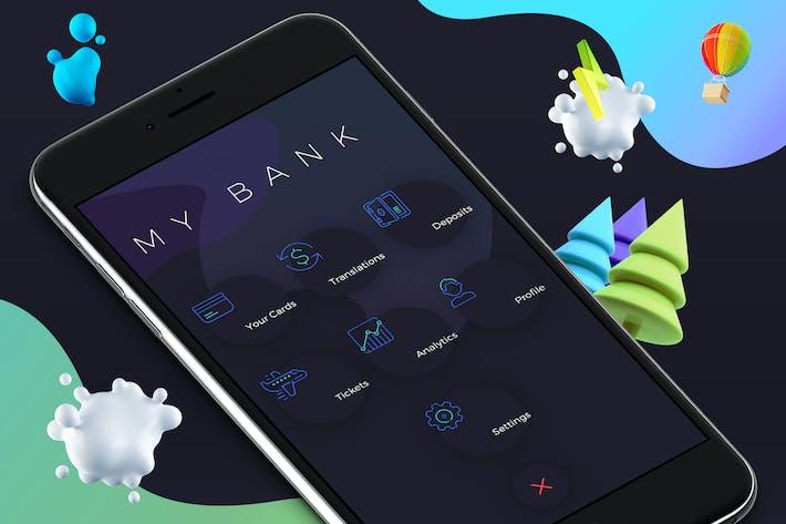 Thumbnail for Menu Wallet 1 Mobile Ui - M