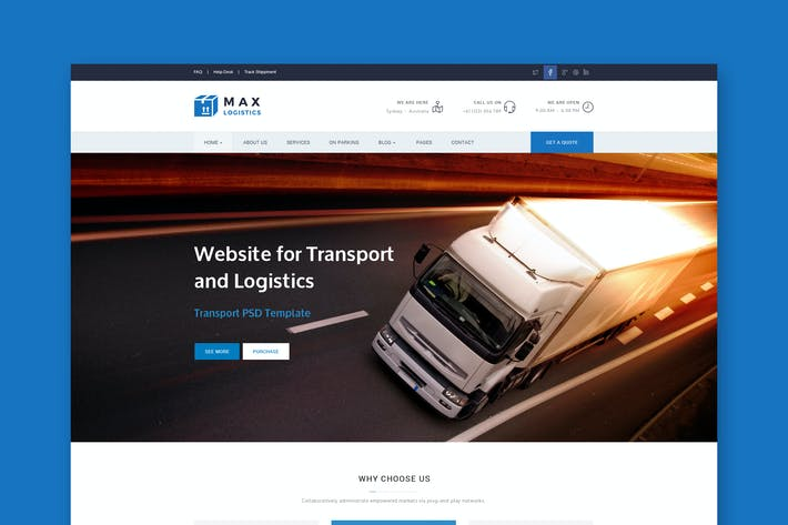 Thumbnail for Max Logistics - Transport & Logistics HTML Templat