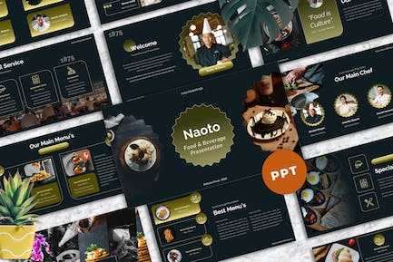 Naoto - Food & Beverages Powerpoint Templates