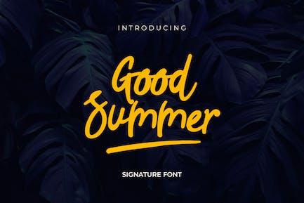 Buen guión escrito a mano de verano