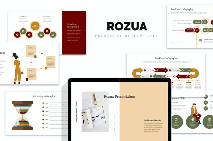 Thumbnail for Rozua : Vector Infographic Business Google Slides