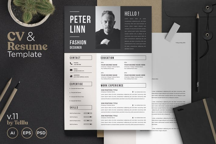 Thumbnail for Resume Template v.11