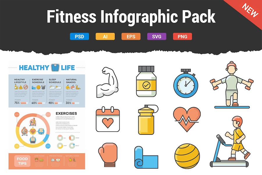 Fitness Infographic Pack