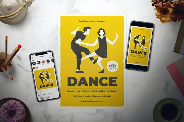 Cover Image For Dance Class Flyer Set