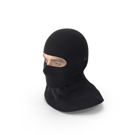 Male Head Wearing Balaclava