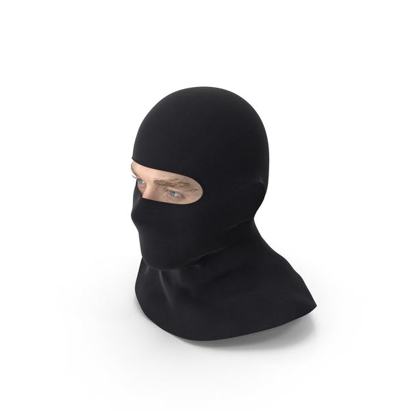 Thumbnail for Male Head Wearing Balaclava