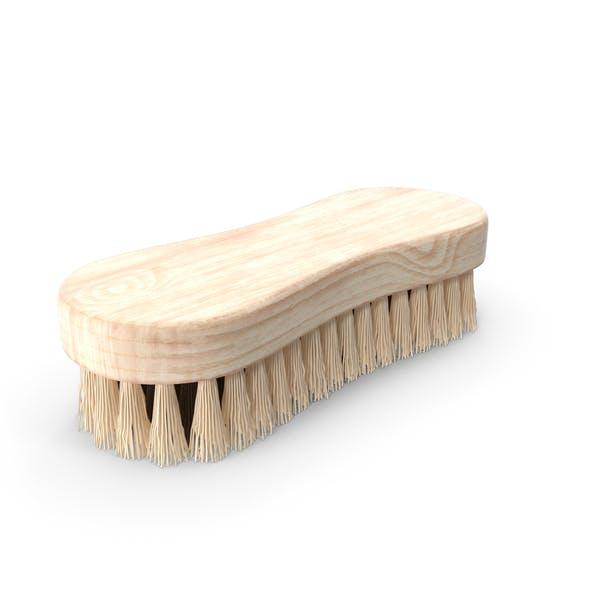 Cepillo de limpieza de madera clara