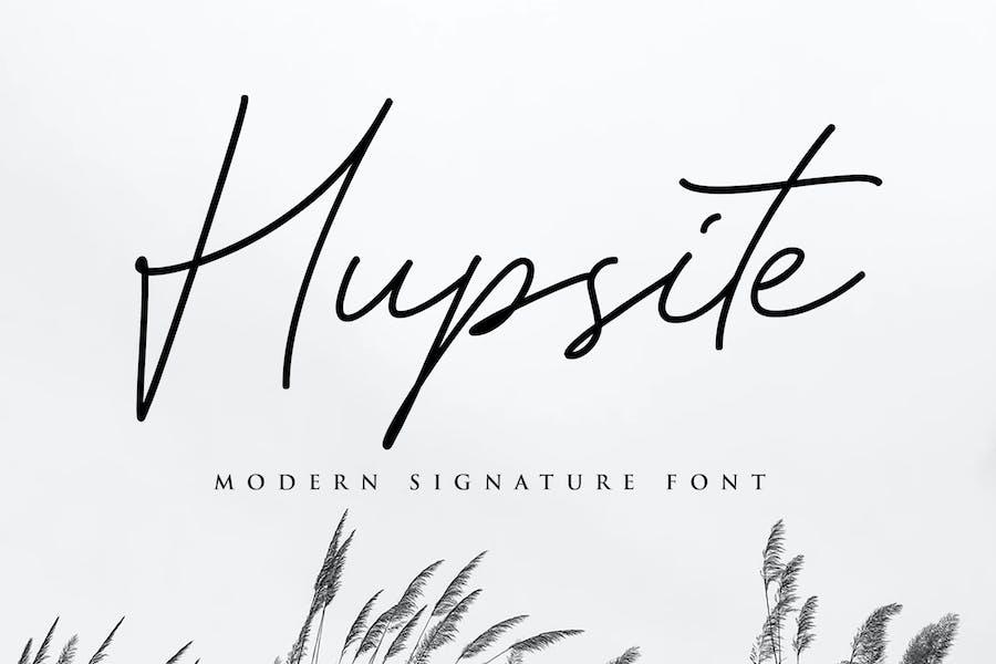 Hupsite Signature Font