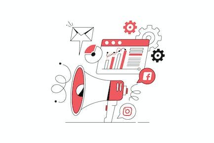 Marketing Equipment Illustration