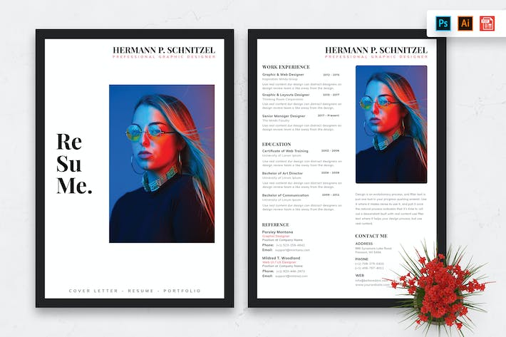 Cover Image For Resume CV Template-87