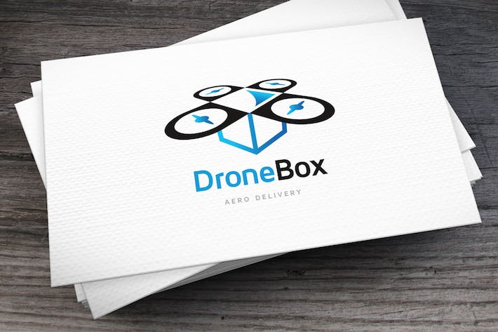 Thumbnail for Drone Box Logo Template