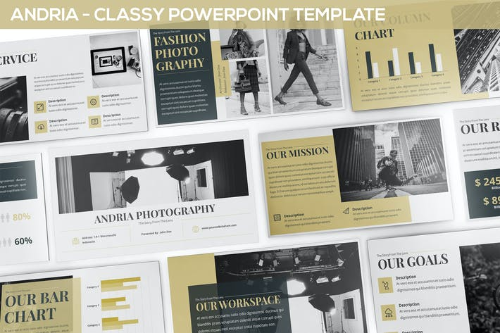 Andria - Classy Powerpoint Template