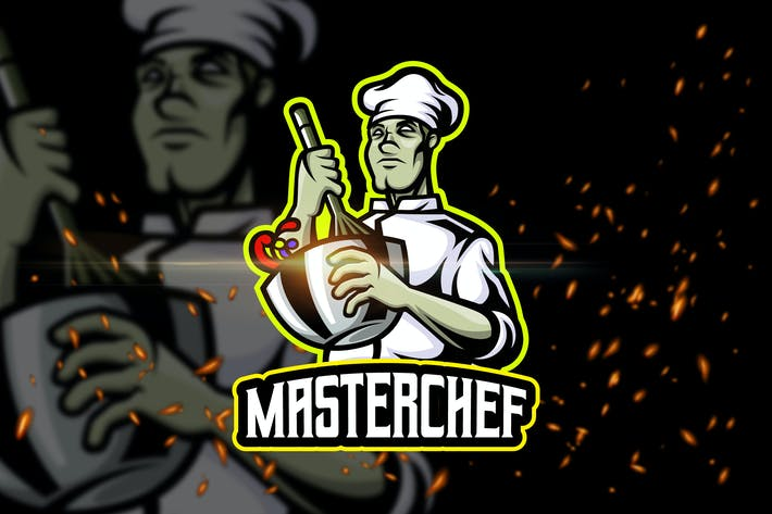 Thumbnail for Master Chef - AI & PSD Esport Logo Template