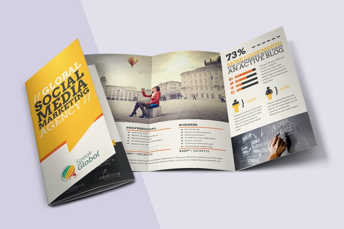 Thumbnail for Social Media Tri-fold Brochure