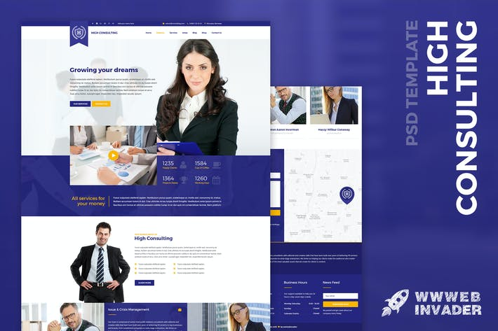 Thumbnail for High Consulting - Business & Finance PSD Template