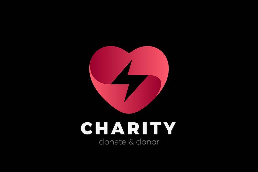 Heart Fast Love Logo Dating Design Valentines day