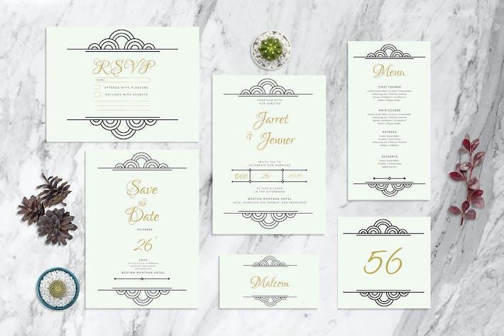 Deco Round - Wedding Invitation