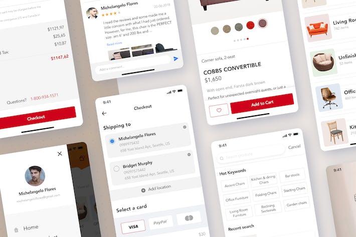 Thumbnail for Shop mobile UI Kit