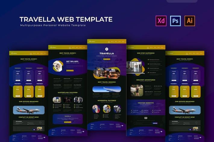 Travella   PSD Web Modèle