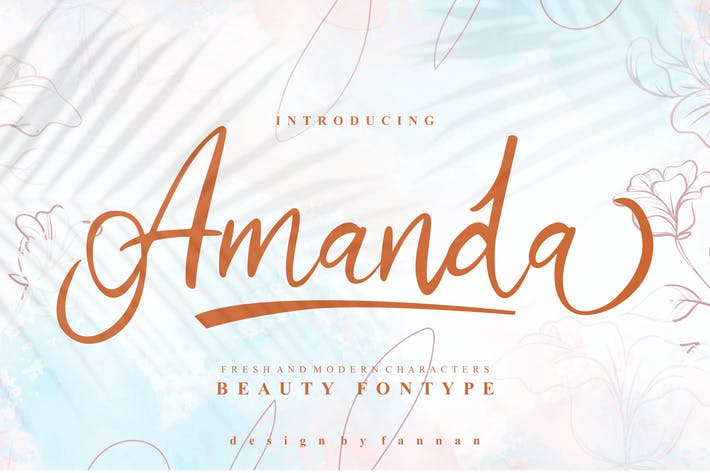 Thumbnail for Amanda Beauty Font