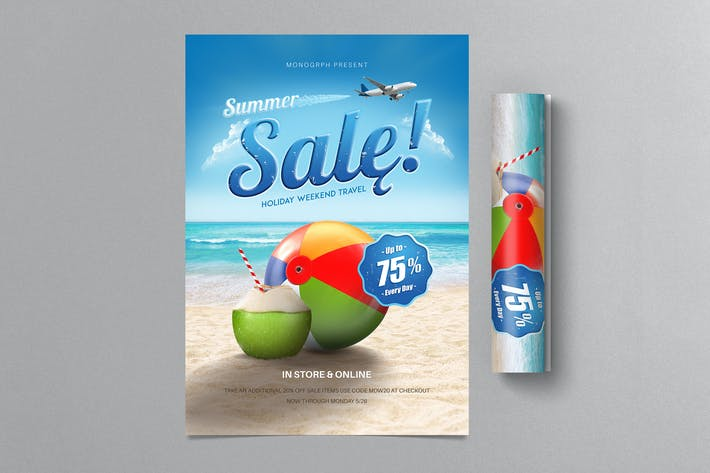 Cover Image For Summer Sale Flyer - Holiday