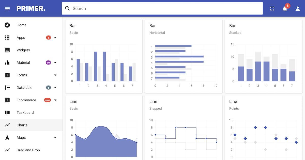 Download Primer Material 2 Angular 6+ Admin Template by iamnyasha