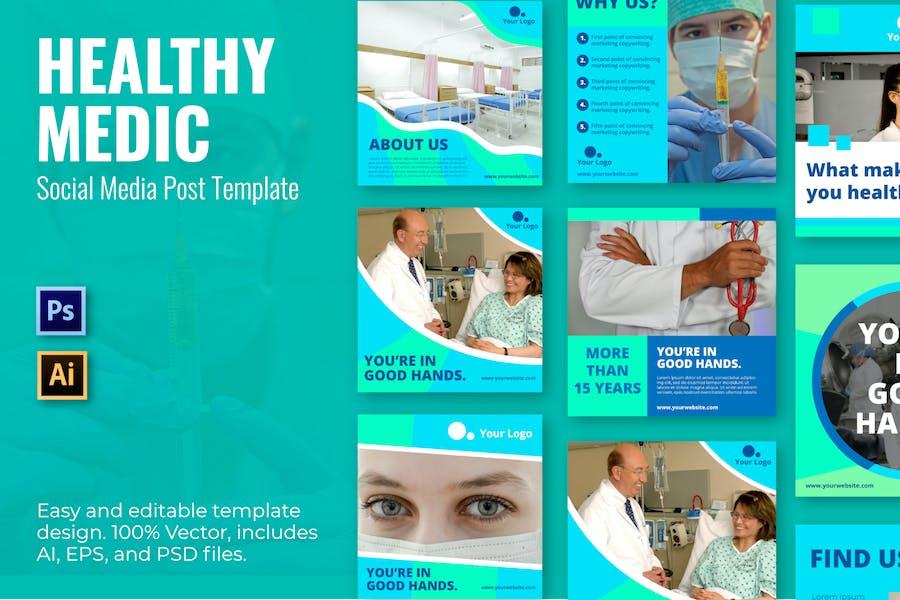 Healthy Medic Social Media Template