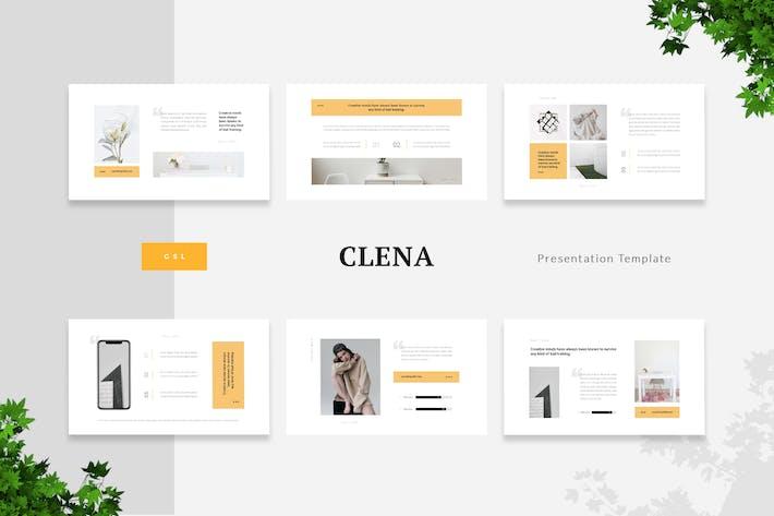 Thumbnail for Clena - Чистый минимализм Google Слайды Шаблон