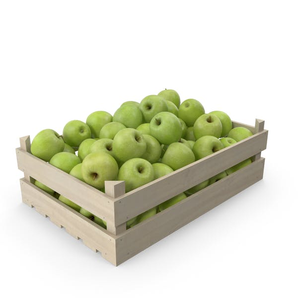 Wooden Granny Smith Apple Crate
