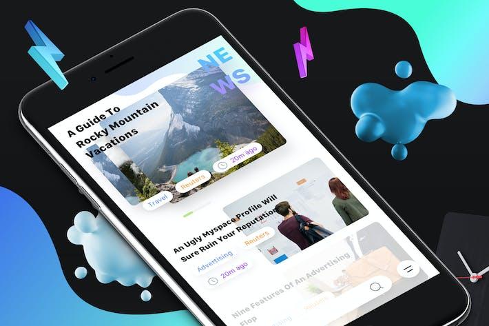 Thumbnail for News 8 Mobile Ui