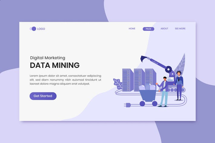 Thumbnail for Data Mining Marketing Landing Page