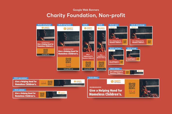 Thumbnail for Charity Foundation, Non-profit Banners Ad