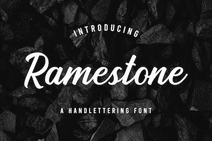 Ramestone - шрифт для обработки надписей