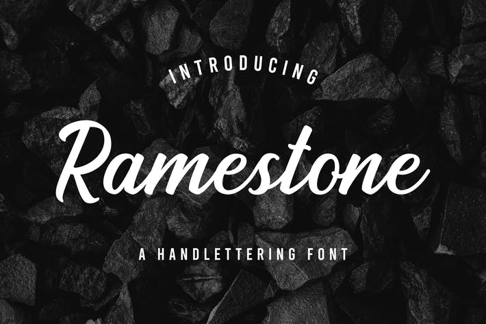 Cover Image For Ramestone - Handlettering Font