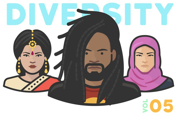 Thumbnail for Diversity Avatars v2 - Volume 05