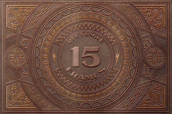 15 Rechteck- und Zierrahmen