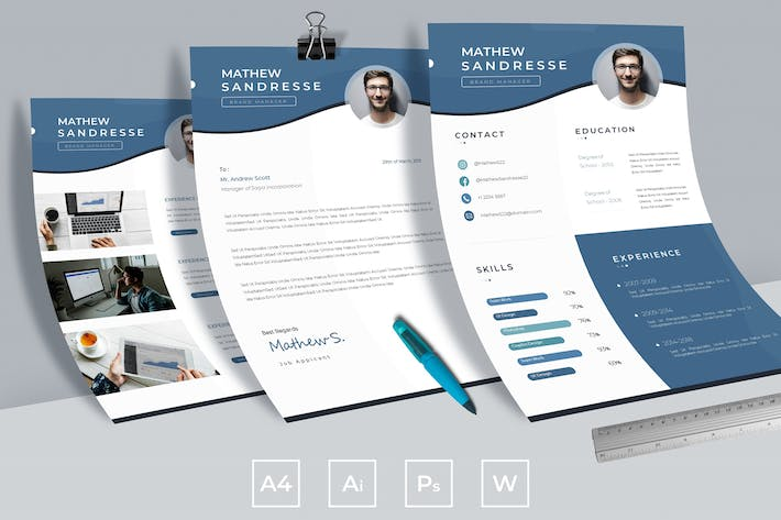 Thumbnail for Clean Corporate Resume Template Vol.01