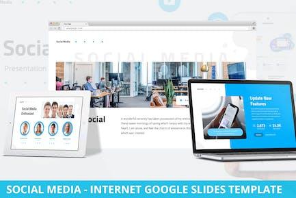 Social Media - Internet Google Slides Template