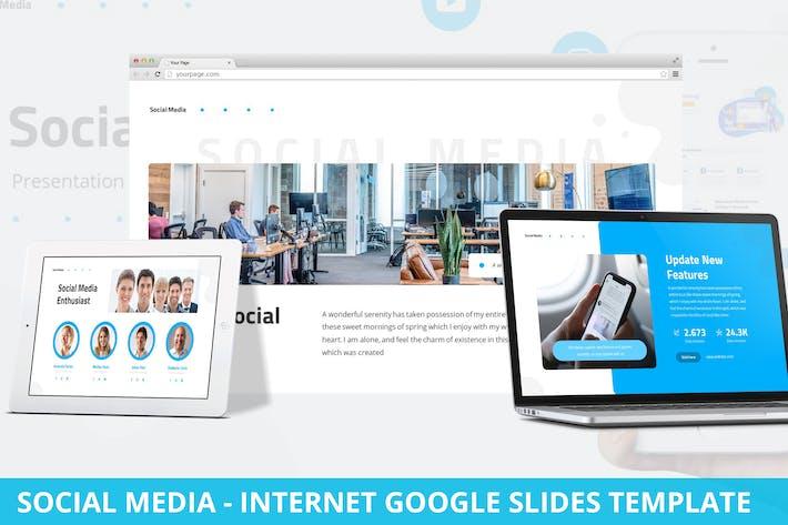 Thumbnail for Social Media - Internet Google Slides Template