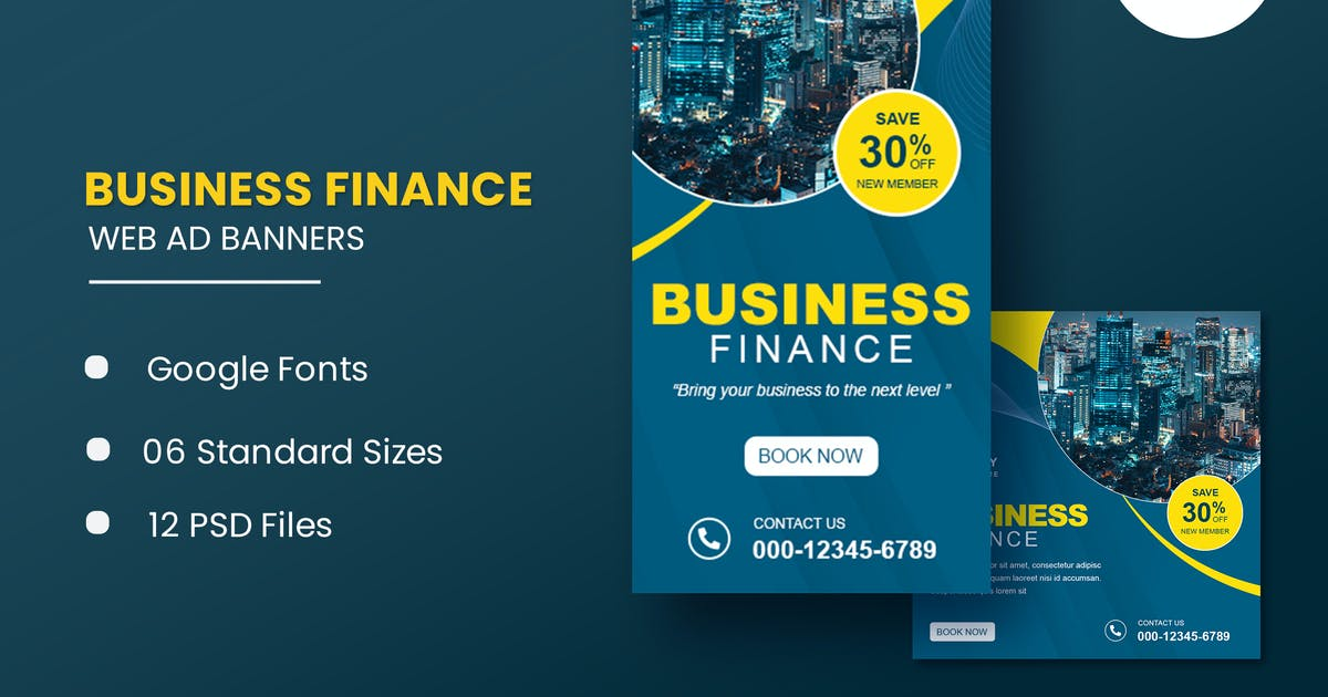Download Business Finance Animated Banner GWD by IsLein