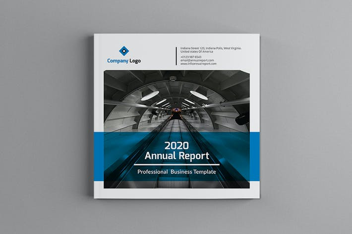 Thumbnail for Mblandang - Square Annual Report Brochure Template