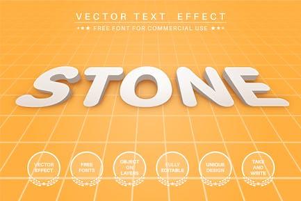 3D Stone - efecto de texto editable, estilo de fuente