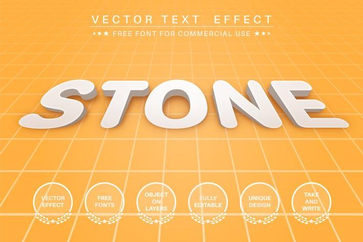 3D Stone - редактируемый текстовый эффект, стиль шрифта