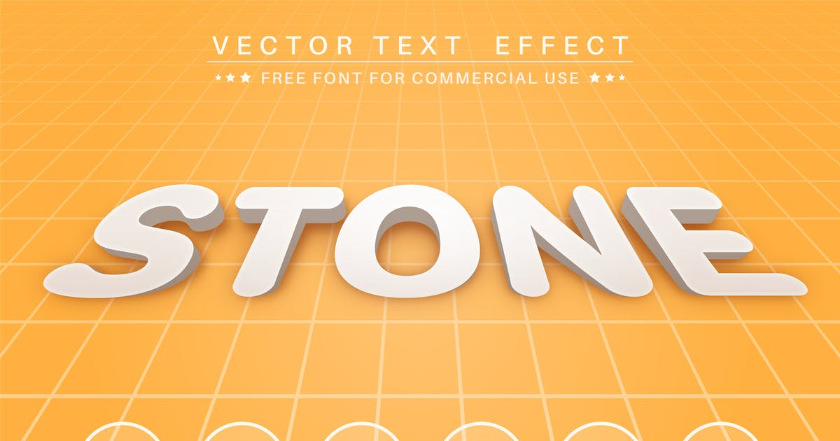 Download 3D Stone - editable text effect,  font style by rwgusev