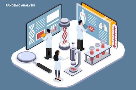 Pandemic Analysis - Ilustration Template