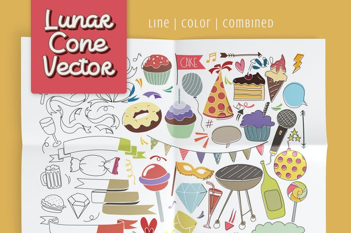 Thumbnail for Lunar Cone Vector Pack